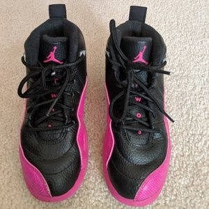 Girls Black/Pink Jordans Basketball Shoes